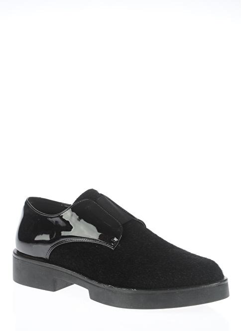 Bambi Bağcıksız Düz Topuk Ayakkabı Siyah